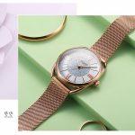 Sang chảnh cùng đồng hồ đeo tay nữ Hàn Quốc Julius họa tiết hoa